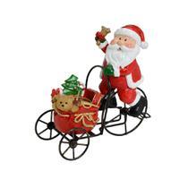 Enfeite Papai Noel No Triciclo 16cm Espressione Christmas -