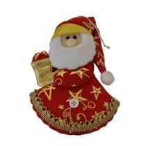 Enfeite Papai Noel Verm/dour.C16xL10 Ref:HZ81231/1 unid. - Natal Brasil