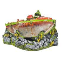 Enfeite Para Aquário Barco Guerra - Aquária