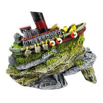 Enfeite Para Aquário Barco Japonês - Aquária