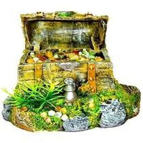 Enfeite para aquário Bau Resina Oxigenador PM-09 Móvel - Andrada