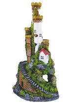 Enfeite Para Aquario Torre Do Castelo Resina - Aquaria