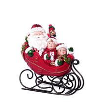 Enfeite Treno Papai Noel e Criancas 17cm Espressione Christmas -