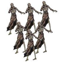 Enfeites de Halloween Mumia 06 unidades Festança - Festabox