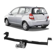Engate Honda Fit 2006 a 2008 DHF Reboque Rabicho Protetor Tração 400 KG -
