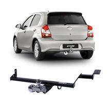 Engate Toyota Etios Hatch 2012 a 2019 Engetran Reboque Rabicho Protetor Tração 400 KG -