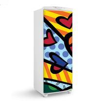 Envelopamento De Geladeira Porta Romero Desenho Coração 150X60cm - Sunset adesivos
