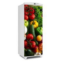 Envelopamento De Geladeira Porta Vai Uma Salada Ai 150X60cm - Sunset Adesivos