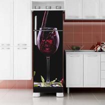 Envelopamento de Geladeira Vinho na Taça - Casa Harmonia