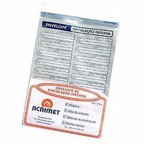 Envelope Acrimet 772 vai e vem plastico de circulação interna pacote com 12 unidades -