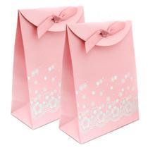 Envelope para Presente Cor de Rosa com Fita e Tiras autocolantes - kit com 2 - Regina Bijoux