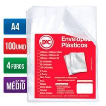 Envelope plástico A4 4 furos 0.12 5178A4 100 unid Dac -