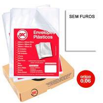Envelope Plástico DAC 0,06 Fino Oficio Sem Furos CX C/1000 UN -