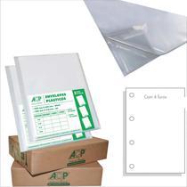 Envelope Plástico Ofício 4Furos Grosso 0,15Mm Pct Com 100 - GNA