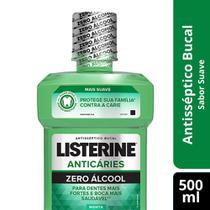 Enxaguante Bucal Antisséptico Listerine Anticá Zero Ment 500 -