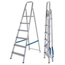 Escada Aluminio 6 Degraus Real -