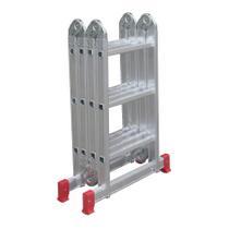 Escada Articulada Multifuncional 12 Degraus 13 Posições Alumínio - Botafogo Lar e Lazer -