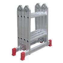 Escada Articulada Multifuncional Alumínio Compacta 13 posições 8 DEGRAUS Botafogo Lar e Lazer -