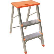 Escada Banqueta de Alumínio Doméstica Dobrável c/ 3 Degraus BOTAFOGO -