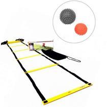 Escada de Agilidade com Regulagem 4 Metros + 2 Bolas Massageadoras Cravos - LIVEUP -