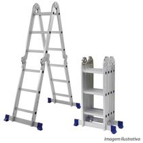 Escada de Alumínio Mor Multiuso, 12 Degraus - 5131 -