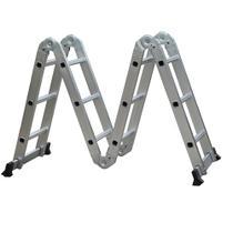 Escada de Alumínio Multifuncional 14 -12 Degraus  D178805 - Evolux