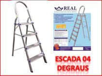 Escada domestica de alumínio 4 degraus (REAL) -