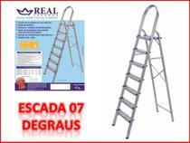 Escada domestica de alumínio 7 degraus (REAL) -