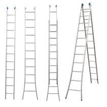 Escada Extensiva 3 Em 1 Aluminio 2 X 11 - 22 Degraus Alumasa -