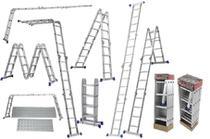 Escada Multifuncional 4x4 16 Degraus Com 2 Plataformas Mor - Metalúrgica Mor
