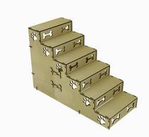 Escada para PET - 6 degraus - Pequeno Porte (PET6-PP) - Altura 60cm - Cutmania