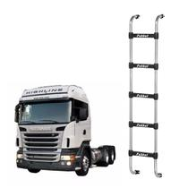 Escada Scania Highline Cromado 5 Degraus 1650mm - Fabbof