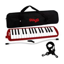 Escaleta 32 Notas Melódica Vermelha Bocal Case Bag Stagg Music 32RD -