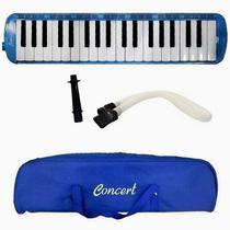 Escaleta 37 Teclas Pianica Barata C/ Estojo Acessórios Azul - Concert