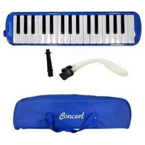 Escaleta Concert 32 Teclas Azul Com Bag Bocal E Mangueira -