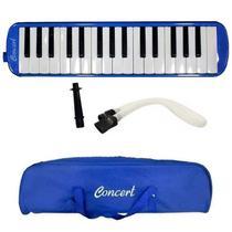 Escaleta Pianica Azul 32 Teclas C/ Estojo E Acessórios - Concert