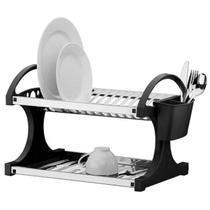 Escorredor 16 pratos brinox c/laterais pp preto 2104/211 -