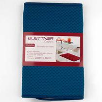 Escorredor Buettner P/ Copos Liso Microfibra 23x46cm Azul -