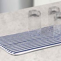 Escorredor de Copo Buettner Microfibra Listrado Azul Cooking -