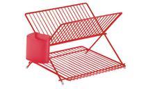 Escorredor De Louça Articulado Vermelho Com Suporte Talheres Forma 804115/R - Forma Inox