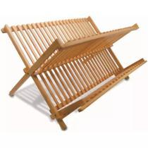 Escorredor de Louça Dobrável Bambu 45x33cm - Mimo Style -