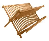Escorredor De Louça Em Bambu Dobrável Madeira Retrátil Prato - Yoi