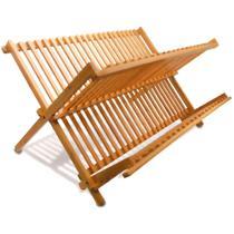 Escorredor de Louça Pratos Dobrável em Bambu Tyft Yoi -