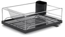 Escorredor de louças com bandeja preto pratos talheres Forma 801313b - Forma Inox