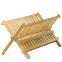 Escorredor de Louças de Bambu Dobrável EcoKitchen Mimo Style -