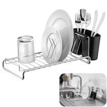 Escorredor De Louças Pratos Copos Talheres Cozinha Compacto Cromado - 984 Future -