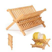 Escorredor De Louças Pratos Em Bambu Dobrável Cozinha - Imp