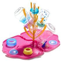 Escorredor de Mamadeiras - Pink e Laranja - Tinok