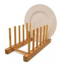 Escorredor De Pratos Copos Louças Em Bambu Bancada Pia - Ecokitchen