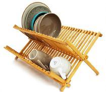 Escorredor de pratos dobrável bambu 46x34x23,5 cm yoi tyft - Yoi-Martiplast